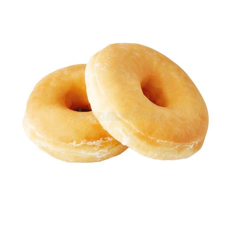 Свежие вкусные donuts изолированные на белой предпосылке стоковые изображения rf