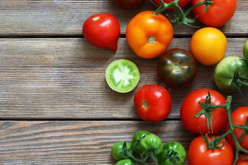 свежие зрелые томаты стоковая фотография rf