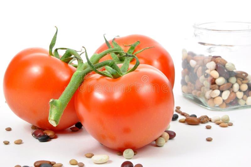 свежие изолированные томаты стоковые изображения rf