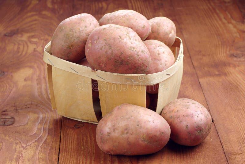 Свежие картошки в корзине стоковое фото