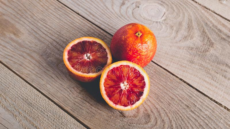 Свежие кровопролитные апельсины стоковая фотография