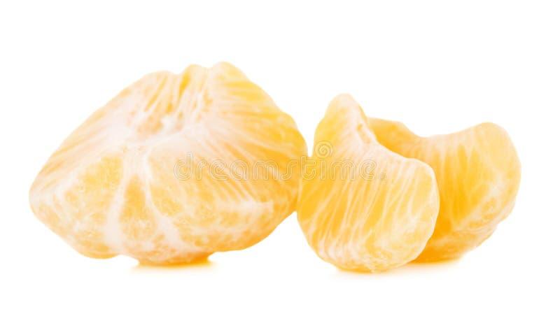 Свежие куски мандарина стоковое изображение