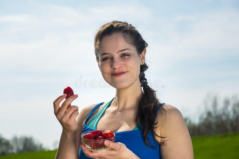 Свежие клубники для здорового тела стоковое изображение