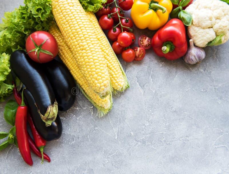 Свежие овощи лета стоковое изображение rf