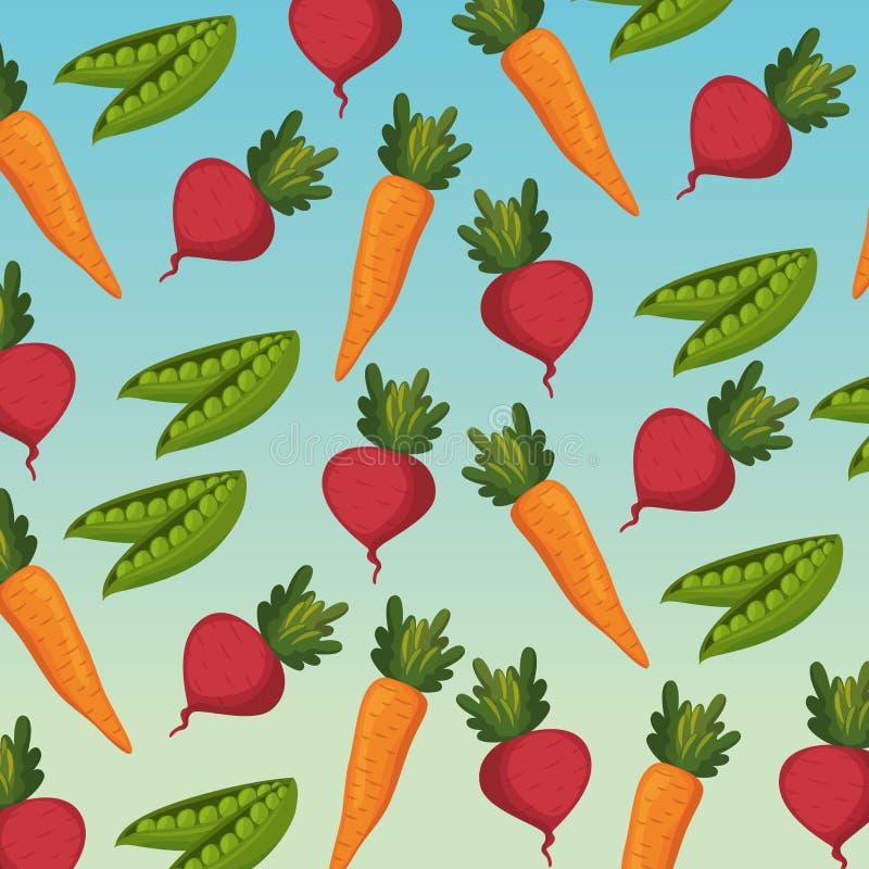Свежие овощи органические и здоровая предпосылка картины еды иллюстрация вектора