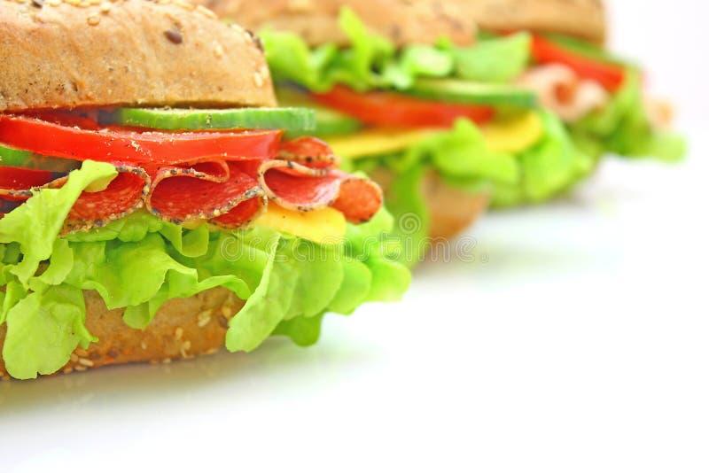 свежие овощи сандвича стоковое фото
