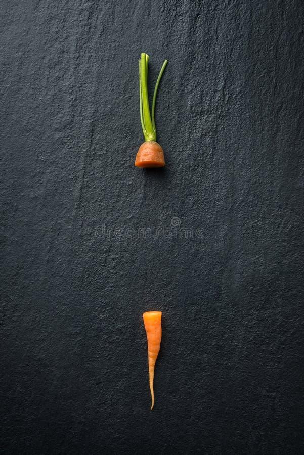 Свежие остатки моркови стоковая фотография rf