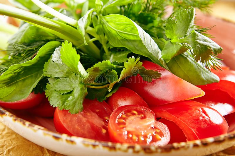 Свежие отрезанные овощи стоковые фото