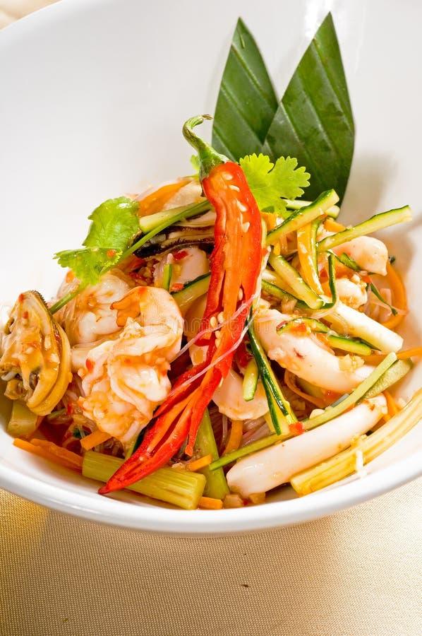 свежие продукты моря салата тайские стоковая фотография