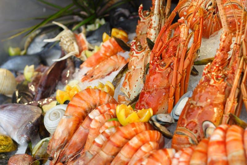 свежие продукты моря стоковая фотография