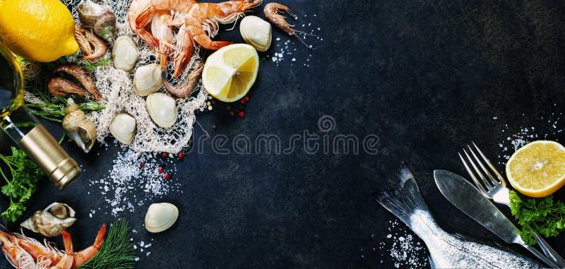 свежие продукты моря стоковые изображения