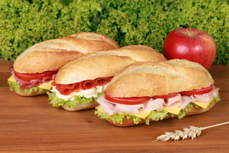свежие сандвичи стоковые изображения rf
