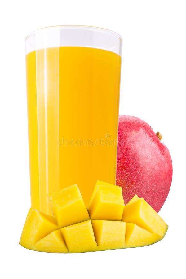 Свежие соки манго над белизной стоковое фото rf