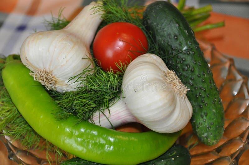 Свежие сортированные овощи стоковая фотография rf