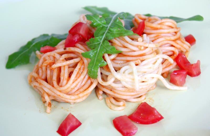 Свежие спагетти стоковое фото rf