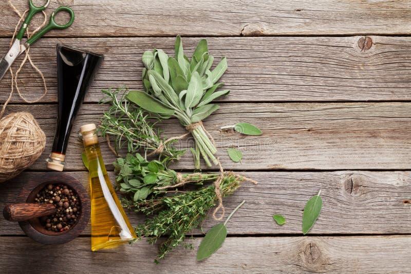 Свежие травы и condiments сада стоковое фото rf