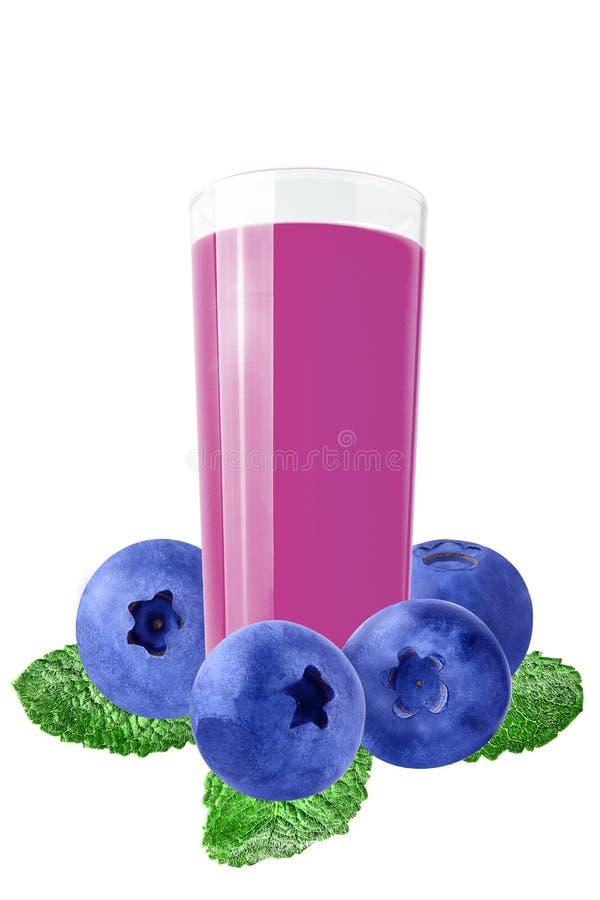 Свежие фиолетовые соки над белой предпосылкой стоковое фото
