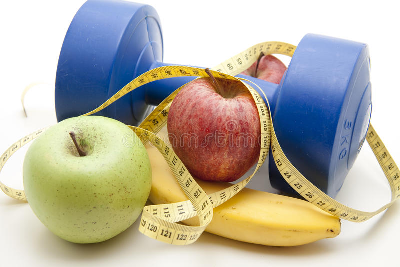 свежие фрукты гантели стоковое фото