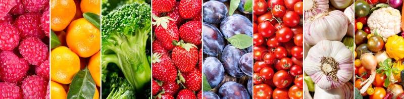 Свежие фрукты и овощи, знамя стоковые фото