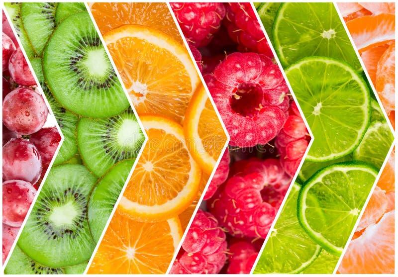 свежие фрукты коллажа стоковые изображения rf