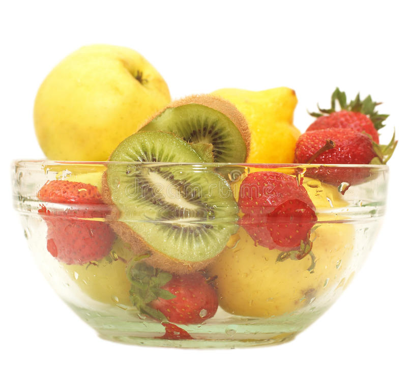 свежие фрукты шара стеклянные стоковая фотография