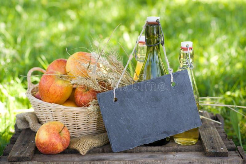 Свежие яблоки и сок стоковые фото
