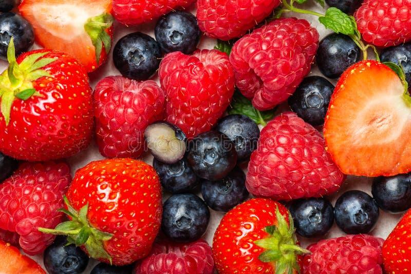 Свежие ягоды лета как голубики, клубники, поленики стоковые фотографии rf