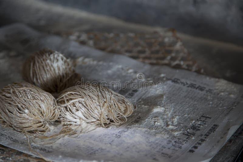 Свежие handmade лапши стоковая фотография rf