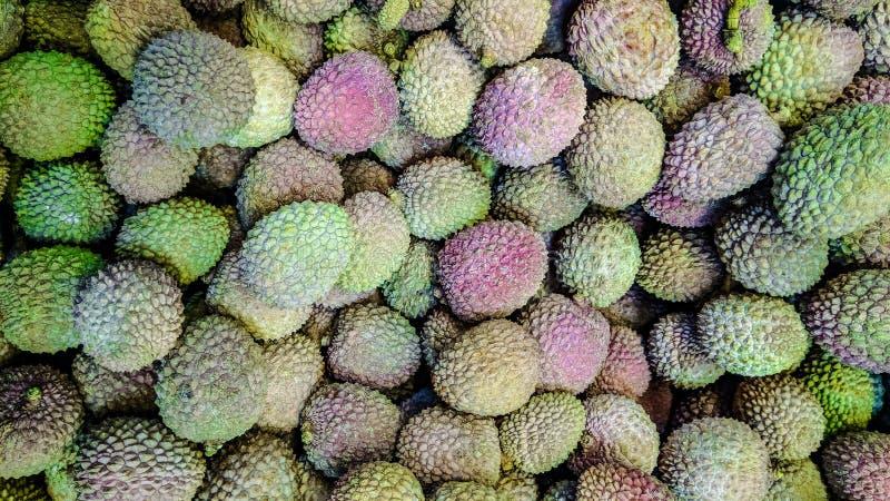 Свежие lychees приносят плоды текстура предпосылки стоковые изображения