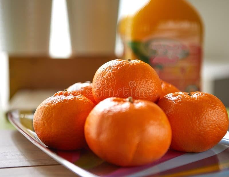 Свежие tangerines, съемка в natura стоковое фото rf