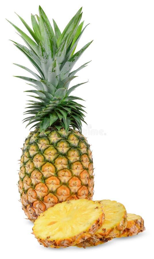 Свежий ананас изолированный на белом закрепляя пути стоковые фотографии rf
