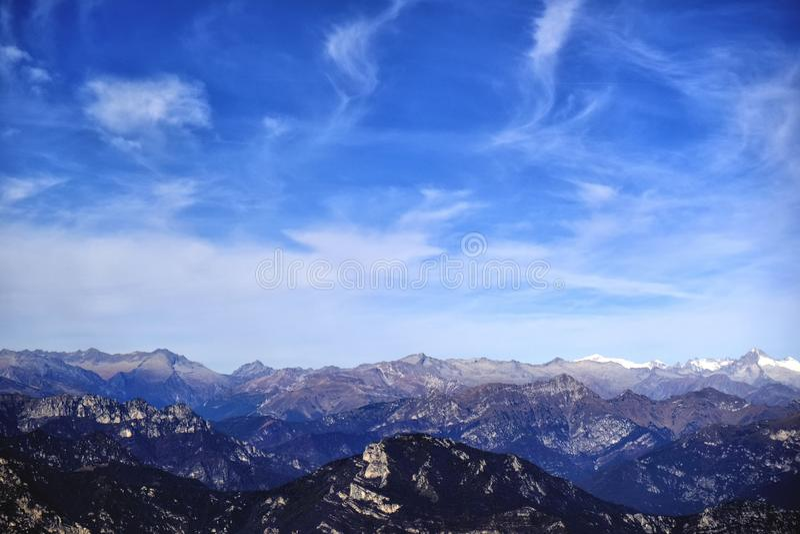 Свежий воздух горы, дыхание, свобода стоковая фотография