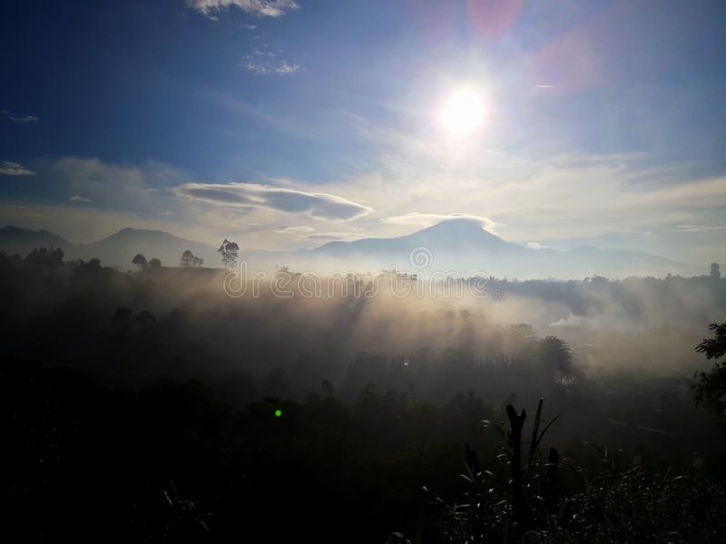 свежий восход солнца стоковое фото