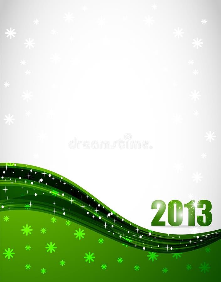 Свежий год 2013 иллюстрация вектора