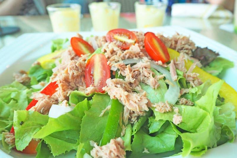 Свежий зеленый салат тунца овоща стоковые изображения