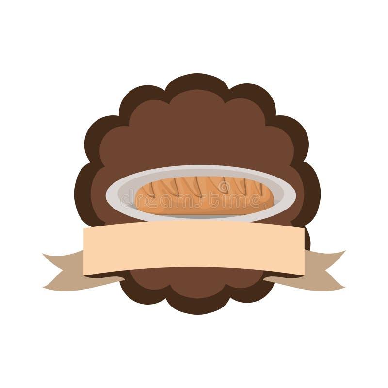 Свежий и очень вкусный хлеб пекарни иллюстрация вектора