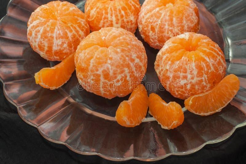Свежий, котор слезли tangerine стоковые фото