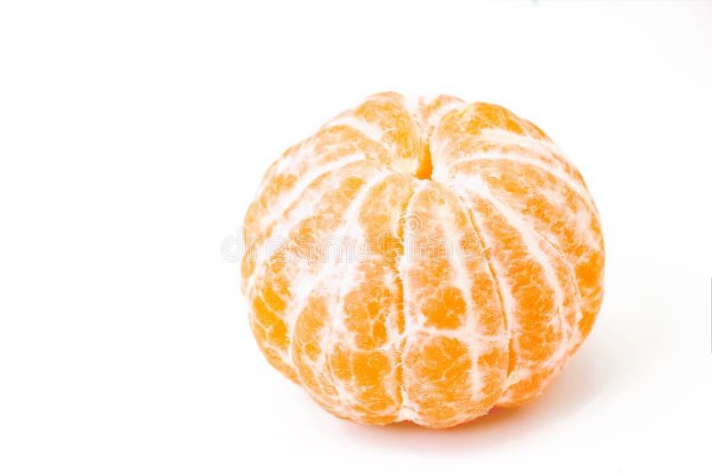 Свежий, котор слезли мандарин изолированный на белой предпосылке стоковые изображения