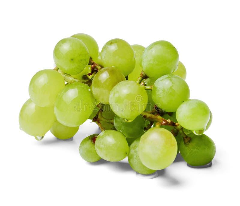 Свежий небольшой пук зеленых виноградин Белая изолированная предпосылка r стоковое фото rf