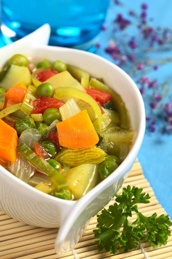 свежий овощ супа стоковые фото