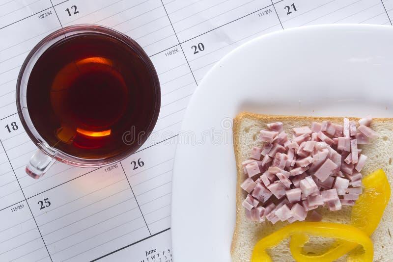 Свежий открытый сандвич стоковые фотографии rf
