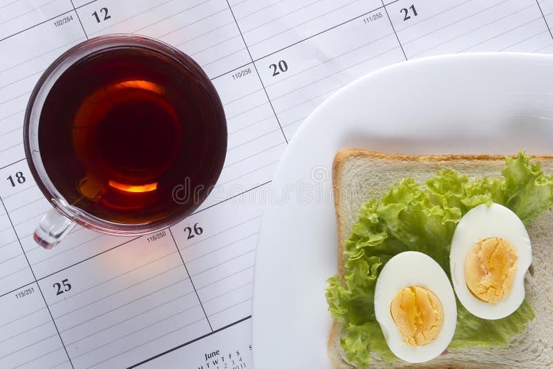 Свежий открытый сандвич стоковые изображения rf