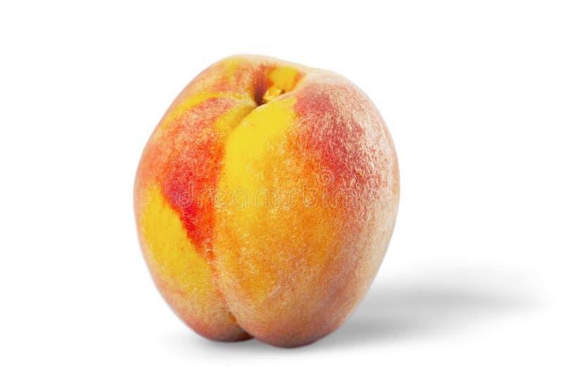 Свежий персик изолированный на белой предпосылке стоковые фотографии rf