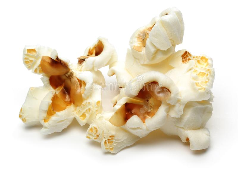 Свежий попкорн изолированный на белом стоковые фото