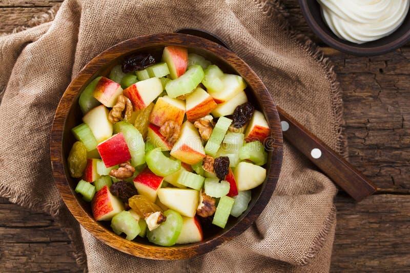 Свежий салат Waldorf Vegan стоковые изображения rf