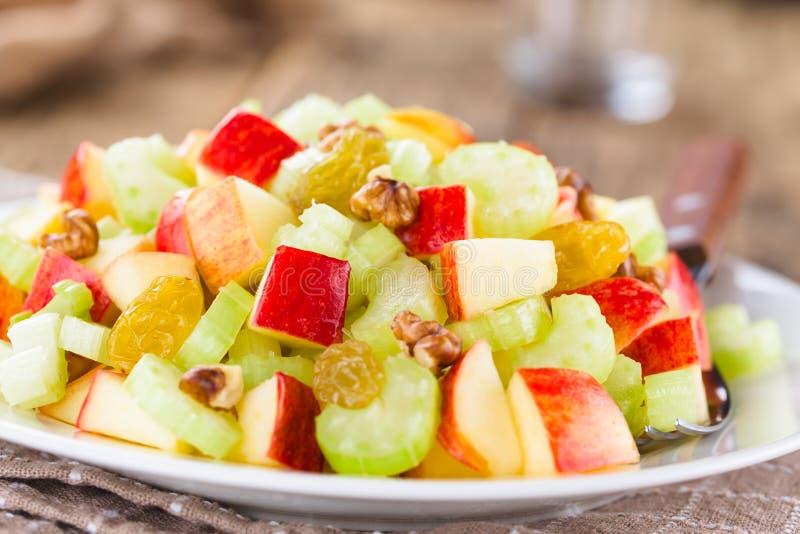 Свежий салат Waldorf Vegan стоковое изображение