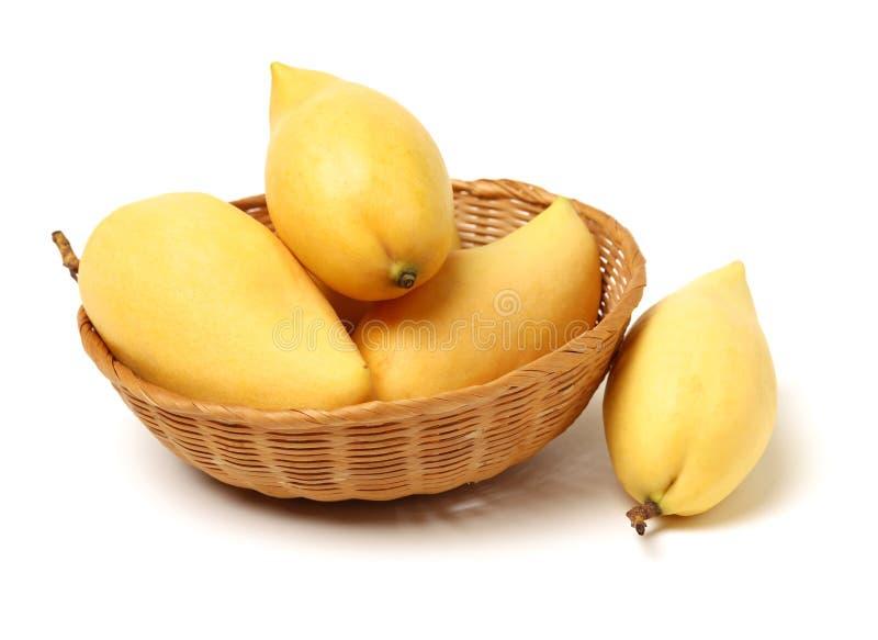 Свежий сулой манго в корзине стоковая фотография
