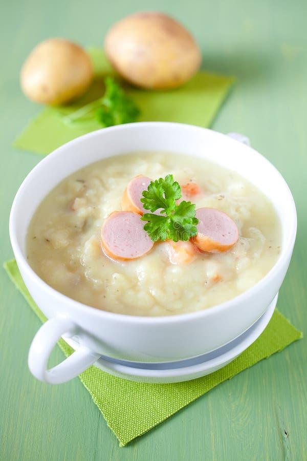 свежий суп картошки стоковые изображения rf