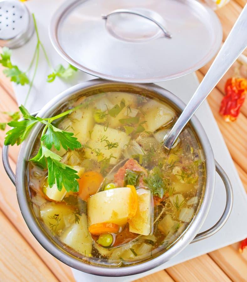свежий суп стоковая фотография