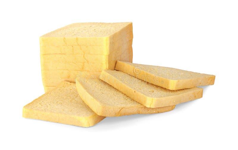 Свежий хлеб масла изолированный на белой предпосылке стоковая фотография rf